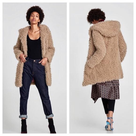 good service cost charm detailed images Zara Jackets & Coats   Womens Teddy Coat   Poshmark